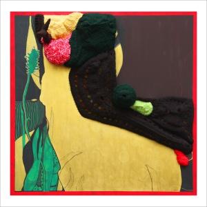 Ulrike Stolte A6 Applikationszyklus 100x100x20cm 2010 Acryl Chrocheted Wool Textile Animal