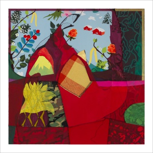 Ulrike Stolte S1 Textilcollage 100x100cm 2011