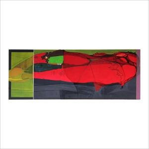 Ulrike Stolte S6 Textilcollage 200x75cm 2012
