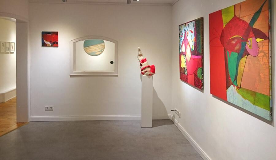 Ulrike Stolte Duo Show Galerie Kunstzimmer Eppendorf 2017 Susanne Bürger Hamburg