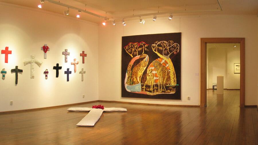 Ulrike Stolte Ausstellung Stoff3 Burg Beeskow 2006