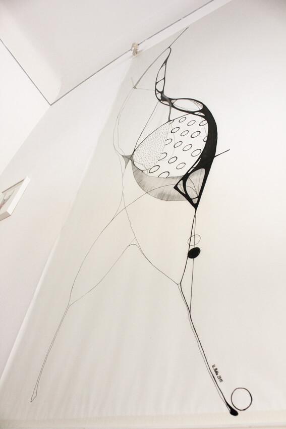ulrike stolte crossing cocoons solo show finissage wandgrafik kunstundhelden galerie erd und feuer 2015