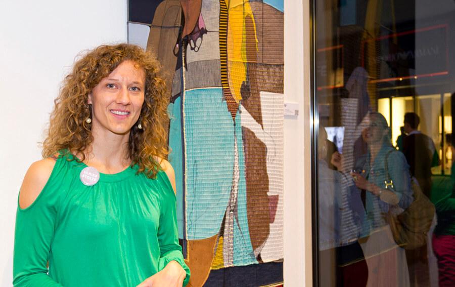 Ulrike stolte Künstlerin aus Berlin Grafik Malerei Objekte Textile Kunstprojekte Kunstvermietung