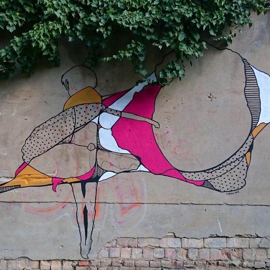 ulrike stolte kunstprojekt wandgrafik außenbereich privathaus berlin 2016