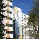 Ulrike Stolte Fassadengrafik Kunstprojekte Berlin Gräser 2008