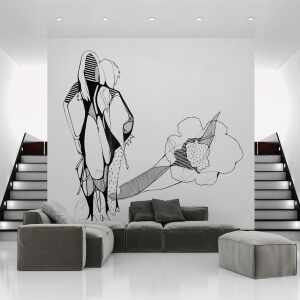 Ukrike Stolte Kunstprojekte Wandgrafik