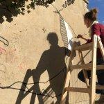 Ulrike Stolte Kunstprojekte Wandgrafik Aussenbereich Berlin 2016