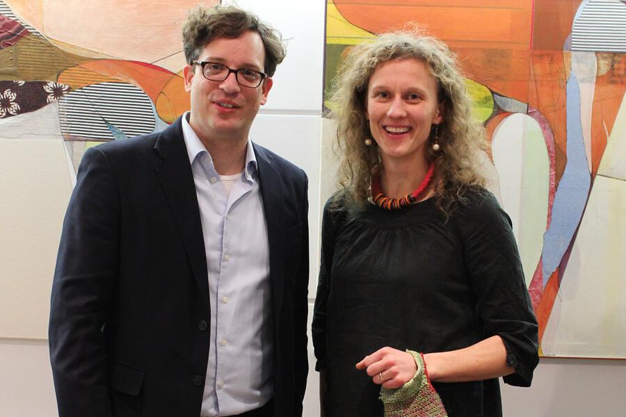 Ulrike Stolte Vernissage Marc Lakner A.T.Kearney Januar 2016 Kunstvermietung