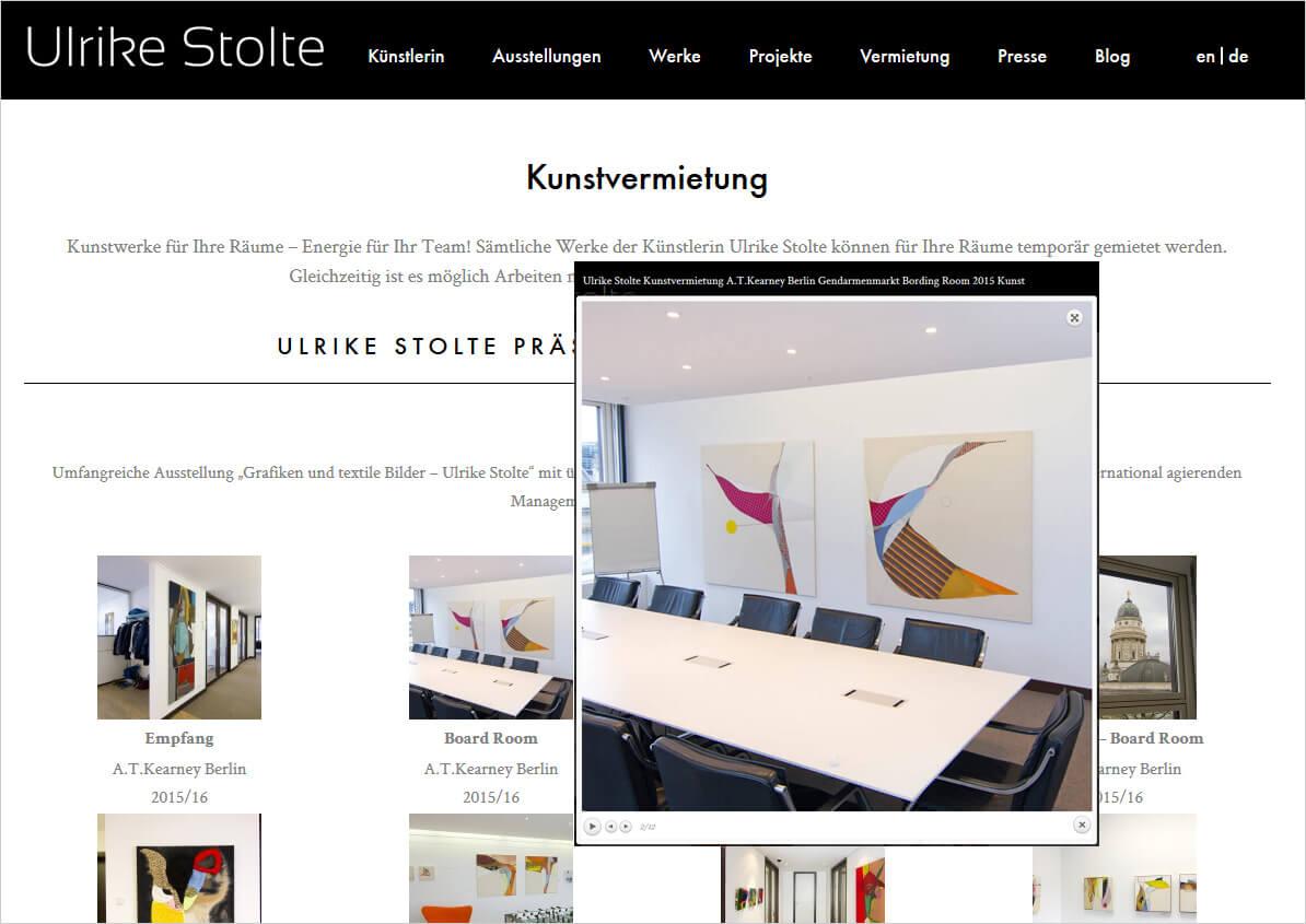 Ulrike Stolte Neue Webseite Online Art Berlin 2016 Kunstvermietung