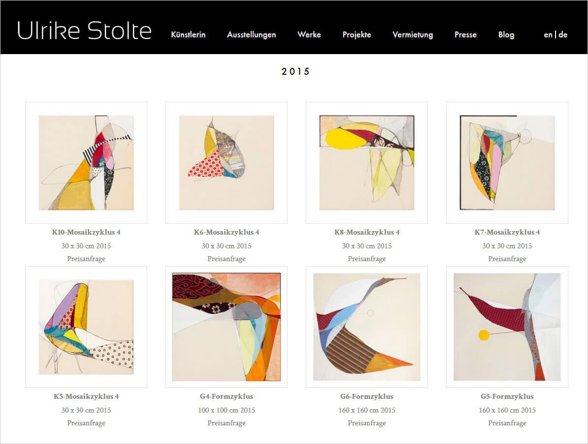 Ulrike Stolte Neue Webseite Online Art Berlin 2016 Textile Bilder