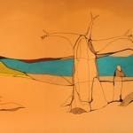 Ulrike Stolte Kunstprojekte Wandgrafik Weite Welt AIDA Luna 2009