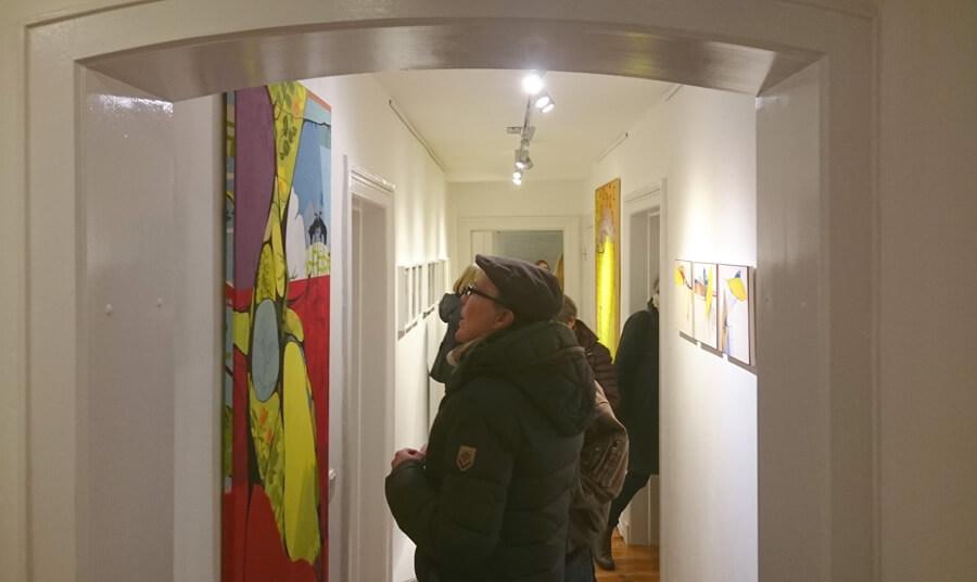 Ulrike Stolte Vernissage Hamburg Galerie Kunstzimmer Eppendorf Februar 2017