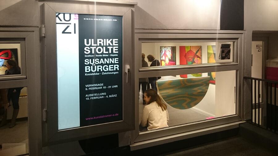 Ulrike Stolte Vernissage Hamburg Galerie Kunstzimmer Eppendorf Susanne Buerger Februar 2017
